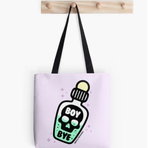Boy Bye Poison Bottle Tote Bag